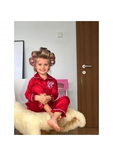 Quzucuk Kids Kız Çocuk Pamuk Satenli Kırmızı Pijama Takımı Renkli